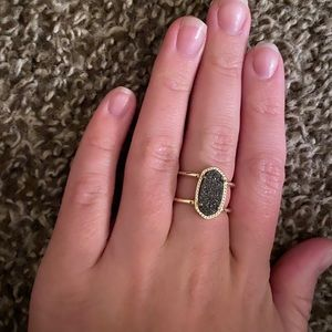Kendra Scott Ring in Platinum Drusy